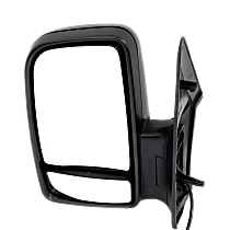 Mirror Manual Folding Non-Heated - Driver Side, Manual Glass, In-housing Signal Light, With Blind Spot Corner Glass, Textured Black