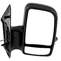Mirror Manual Folding Non-Heated - Passenger Side, Manual Glass, In-housing Signal Light, With Blind Spot Corner Glass, Textured Black
