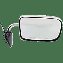 Mirror - Passenger Side, Folding, Chrome, 6 x 9 in. Housing; Black Base