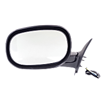 Mirror Manual Folding Non-Heated - Driver Side, Power Glass, Textured Black
