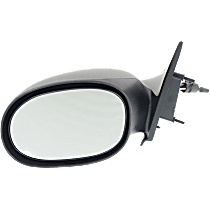 Mirror Non-folding Non-Heated - Driver Side, Manual Remote Glass, Paintable