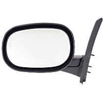Mirror - Driver Side, Folding, Textured Black