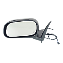 Mirror Manual Folding Heated - Driver Side, Textured Black