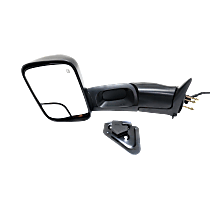 Towing Mirror Manual Folding Heated - Driver Side, Power Glass,With Blind Spot Corner Glass, Textured Black