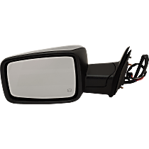 Mirror - Driver Side, Power, Heated, Folding, Chrome, With Turn Signal, Memory and Puddle Lamp, Black Base