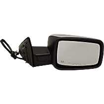 Mirror - Passenger Side, Power, Heated, Folding, Chrome, With Turn Signal, Memory and Puddle Lamp, Black Base