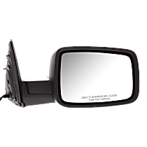 Mirror - Passenger Side, Power, Heated, Folding, Textured Black, With Turn Signal and Puddle Lamp