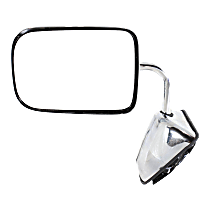 Mirror - Driver Side, Power, Chrome, 6 x 9 in. Housing