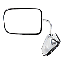 Mirror - Driver Side, Power Glass, Chrome