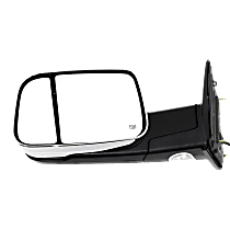Mirror - Driver Side, Towing, Power, Heated, Folding, Chrome, With Turn Signal, Memory, Blind Spot Glass and Puddle Lamp
