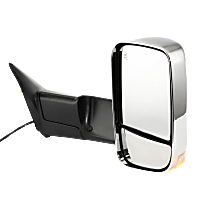Mirror - Passenger Side, Towing, Power, Heated, Folding, Chrome, With Turn Signal, Memory, Blind Spot Glass and Puddle Lamp