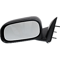 Mirror - Driver Side, Folding, Textured Black, 6 x 9 in. Housing