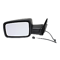 Mirror Manual Folding Non-Heated - Driver Side, Manual Glass, Textured Black