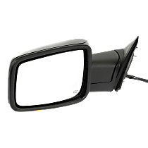 Power-Folding Mirror Driver Side, Heated, with Signal and Puddle Lights, Textured Black
