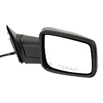 Power-Folding Mirror Passenger Side, Heated, with Signal and Puddle Lights, Textured Black