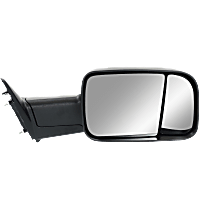 Towing Mirror Manual Folding Non-Heated - Passenger Side, Manual Remote Glass,With Blind Spot Corner Glass, Textured Black