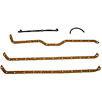 DNJ PG1119 Oil Pan Gasket - Cork and rubber, Direct Fit, Set