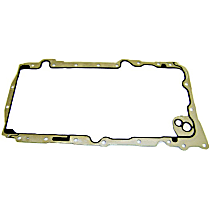 Oil Pan Gasket - Rubber with steel core, Direct Fit, Sold individually