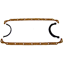 DNJ PG1153A Oil Pan Gasket - Cork and rubber, Direct Fit, Set