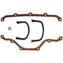 DNJ PG145 Oil Pan Gasket - Cork and rubber, Direct Fit, Set
