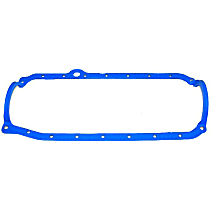 Oil Pan Gasket - Rubber-coated fiber, Direct Fit, Sold individually