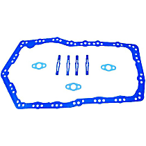 PG3116 Oil Pan Gasket - Rubber-coated fiber, Direct Fit, Set