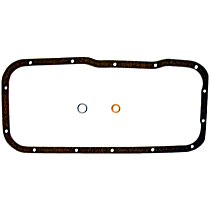 Oil Pan Gasket - Cork, Direct Fit, Set