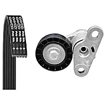 Serpentine Belt - Direct Fit, Kit Air Conditioning and Tensioner