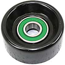 Accessory Belt Idler Pulley - Direct Fit, Sold individually Smooth Pulley