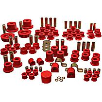 11.18102R Master Bushing Kit - Red, Polyurethane, Direct Fit, Kit