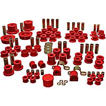 Energy Suspension 11.18102R Master Bushing Kit - Red, Polyurethane, Direct Fit, Kit