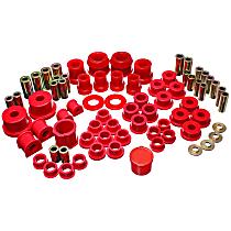 11.18104R Master Bushing Kit - Red, Polyurethane, Direct Fit, Kit