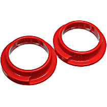 15.6103R Coil Spring Insulator - Red, Polyurethane, Direct Fit, Set of 2