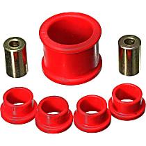 Energy Suspension 16.10105R Steering Rack Bushing - Red, Polyurethane, Direct Fit, Kit