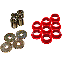 Energy Suspension 16.10106R Steering Rack Bushing - Red, Polyurethane, Direct Fit, Kit
