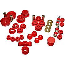 Energy Suspension 16.18101R Master Bushing Kit - Red, Polyurethane, Direct Fit, Kit