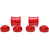 16.8102R Shock Bushing - Red, Polyurethane, 2-Piece, Direct Fit, Set of 4