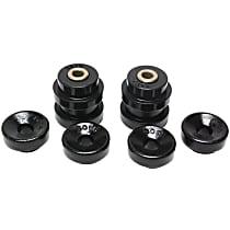 Energy Suspension 16.8103G Shock Bushing - Black, Polyurethane, 2-Piece, Direct Fit, Set of 4