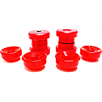 16.8103R Shock Bushing - Red, Polyurethane, 2-Piece, Direct Fit, Set of 4
