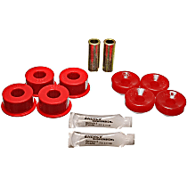 Energy Suspension 16.8106R Shock Bushing - Red, Polyurethane, 2-Piece, Direct Fit, Set of 4