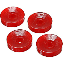 Shock Bushing - Red, Polyurethane, Direct Fit, Set of 4 Rear, Upper