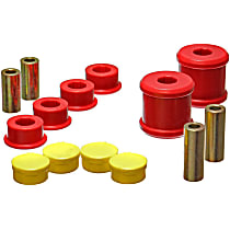 19.7101R Trailing Arm Bushing - Red, Polyurethane, Direct Fit, Set of 4