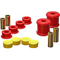 19.7101R Trailing Arm Bushing - Red, Polyurethane, Direct Fit, Set of 4