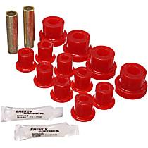 2.2102R Leaf Spring Bushing - Red, Polyurethane, Direct Fit, 2-spring-and-shackle set