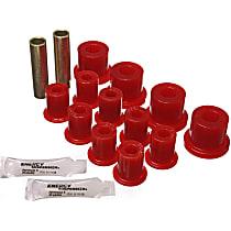 2.2103R Leaf Spring Bushing - Red, Polyurethane, Direct Fit, 2-spring-and-shackle set