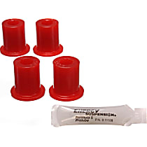 Shackle Bushing - Red, Polyurethane, Direct Fit