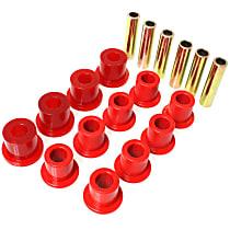2.2107R Leaf Spring Bushing - Red, Polyurethane, Direct Fit, 2-spring-and-shackle set