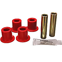 Energy Suspension 2.2120R Shackle Bushing - Red, Polyurethane, Direct Fit