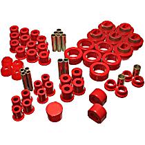 3.18102R Master Bushing Kit - Red, Polyurethane, Direct Fit, Kit