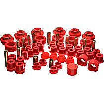 3.18103R Master Bushing Kit - Red, Polyurethane, Direct Fit, Kit